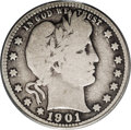 Barber Quarters: , 1901-S 25C VG8 PCGS. With its low mintage and even lower survivalrate, the '01-S is the undisputed key of the Barber quart...