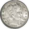 Barber Quarters: , 1913 25C MS65 PCGS. Although it is overshadowed by the SanFrancisco Mint issue, the 1913-P quarter dollar is surprisingly ...