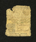 Colonial Notes:Pennsylvania, Pennsylvania March 10, 1769 18d Good. This scarce note is missingsome of its periphery, plus it has a large contemporary re...