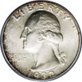Washington Quarters: , 1932-D 25C MS64 PCGS. A thin coating of silver-gray patina isaccented with portions of deep russet color at selected porti...
