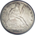 Seated Half Dollars: , 1851-O 50C MS64 PCGS. The 1851-O is fairly scarce in all grades,especially in XF and above. Only about 50 Uncirculated coi...