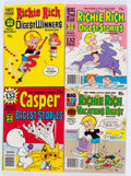 Bronze Age (1970-1979):Cartoon Character, Casper and Richie Rich Bronze Age Digest Comics File Copies Box Lot(Harvey, 1970s) Condition: Average NM-....