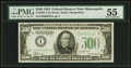 Fr. 2201-I $500 1934 Federal Reserve Note. PMG About Uncirculated 55