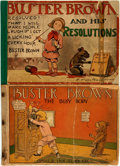 Books:Art & Architecture, [Comic Strips, Cartoons]. R. F. Outcault. Pair of Buster Brown Books. Various publishers, 1903 - 1909. ... (Total: 2 Items)