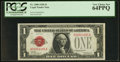 Small Size:Legal Tender Notes, Low Serial Number A00004085A Fr. 1500 $1 1928 Legal Tender Note. PCGS Very Choice New 64PPQ.. ...