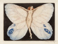 Decorative Prints, European, Louis Icart (French, 1888-1950). Open Wings, 1936. Limitededition etching. 7-3/4 x 10-1/4 inches (19.7 x 26.0 cm). Sign...