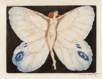 Louis Icart (French, 1888-1950) Open Wings, 1936 Limited edition etching 7-3/4 x 10-1/4 inches (1