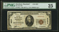 National Bank Notes:Maryland, Aberdeen, MD - $20 1929 Ty. 1 The First NB Ch. # 4634. ...