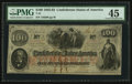 Confederate Notes:1862 Issues, T41 $100 1862 PF-63 Cr. 331A.. ...