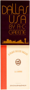 Books:Americana & American History, [Texana]. A. C. Greene. Pair of SIGNED/INSCRIBED Titles. Dallas,USA. Texas Monthly Press, [1984]. [together wit... (Total: 2Items)