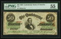 Confederate Notes:1863 Issues, T57 $50 1863 PF-9 Cr. UNL.. ...