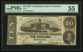 Confederate Notes:1863 Issues, T59 $10 1863 PF-6 Cr. 432.. ...