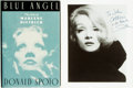 Books:Biography & Memoir, Marlene Dietrich, subject. INSCRIBED PHOTOGRAPH OF DIETRICH. DonaldSpoto. Blue Angel: The Life of Marlene Dietrich. ... (Total:2 Items)