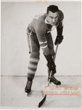 "Hockey Collectibles:Photos, 1930s Charley Conacher Signed Original ""Turofsky"" Photograph...."