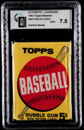 Baseball Cards:Unopened Packs/Display Boxes, 1963 Topps Baseball 2nd/3rd Series 5-Cent Wax Pack GAI NM+ 7.5. ...
