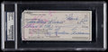 Baseball Collectibles:Others, 1977 Ted Williams Signed Check....