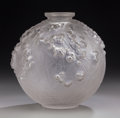 Art Glass:Lalique, R. Lalique Clear and Frosted Glass Druide Vase. Circa 1924.Molded R. LALIQUE. M p. 425, No. 937. Ht. 7-1/2 ...