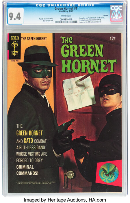 The Green Hornet #1 Boston pedigree (Gold Key, 1967) CGC NM 9.4 White pages....