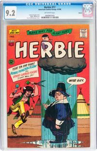 Herbie #17 Boston pedigree (ACG, 1966) CGC NM- 9.2 Off-white pages