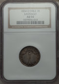 Chile, Chile: Republic Real 1834-IJ AU55 NGC,...