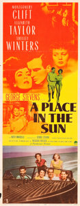 """Movie Posters:Drama, A Place in the Sun (Paramount, 1951). Insert (14"""" X 36"""").. ..."""