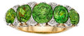 Estate Jewelry:Rings, Antique Demantoid Garnet, Diamond, Gold Ring. ...