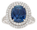 Estate Jewelry:Rings, Sapphire, Diamond, White Gold Ring. ... (Total: 2 Items)