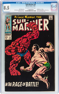 The Sub-Mariner #8 (Marvel, 1968) CGC VF+ 8.5 Off-white to white pages