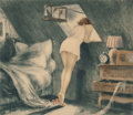Prints:European Modern, Louis Icart (French, 1888-1950). Attic Room, 1940. Limitededition etching. 15-5/8 x 17-3/4 inches (39.7 x 45.1 cm). Sig...