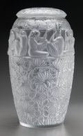 Art Glass:Lalique, Large Limited Edition Lalique Frosted and Clear GlassAngelique Vase. Post 1945. Engraved Lalique France30...