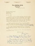 Autographs:Authors, [Texana]. J. Frank Dobie Typed Letter Signed. Dated January 24,1931. ...