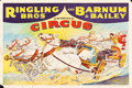 """Movie Posters:Miscellaneous, Ringling Brothers and Barnum & Bailey (E.J. Warner, Late 1930s). Circus Poster (28"""" X 42""""). Miscellaneous.. ..."""
