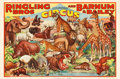 "Movie Posters:Miscellaneous, Ringling Brothers and Barnum & Bailey (Erie Litho, 1937).Circus Poster (27"" X 41"").. ..."