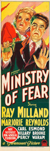 "Movie Posters:Film Noir, Ministry of Fear (Paramount, 1945). Australian Daybill (10"" X30"").. ..."