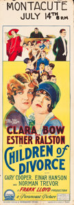 "Movie Posters:Romance, Children of Divorce (Paramount, 1927). Pre-War Australian Daybill(14.5"" X 40"").. ..."