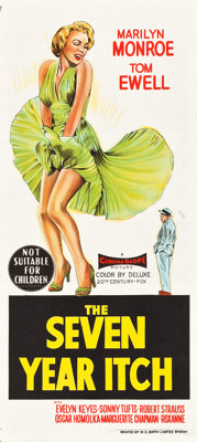 "The Seven Year Itch (20th Century Fox, 1955). Australian Daybill (13.5"" X 30"")"