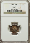 Proof Barber Dimes: , 1892 10C PR65 NGC. NGC Census: (46/66). PCGS Population (53/46). Mintage: 1,245. Numismedia Wsl. Price for problem free NGC...