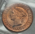 Canada: Victoria Cent 1884 MS64 Red ICCS