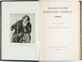 Books:Biography & Memoir, Lloyd Lewis and Henry Justin Smith. Oscar Wilde DiscoversAmerica [1882]. New York: Harcourt, Brace and Company, [19...