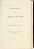 Books:Natural History Books & Prints, [Geology, Maps]. Charles D. Walcott. Annual Reports of the Department of the Interior for the Fiscal Year Ended June 30,...