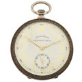 Timepieces:Pocket (post 1900), Swiss Sterling Silver Corgemont Chronometre Pocket Watch. ...