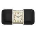 """Timepieces:Other , Movado """"Ermetto-Ghiso"""" Black Enamel Purse Watch. ..."""