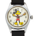 Timepieces:Wristwatch, Mickey Mouse Classic Manual Wind Wristwatch. ...