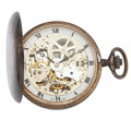 Timepieces:Pocket (post 1900), Swiss Sterling Silver Hunter's Case Pocket Watch. ...