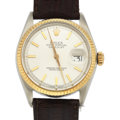 Timepieces:Wristwatch, Rolex Ref. 1601 Steel & Gold Oyster Perpetual Datejust, circa1970's. ...