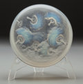 Art Glass:Lalique, R. Lalique Opalescent Glass Houppes Powder Box. Circa 1921.Molded R. LALIQUE. M p. 228, No. 29. Di. 5-1/2 i...