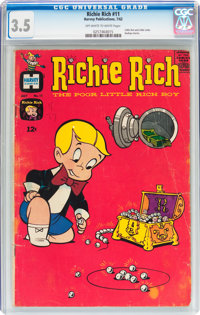 Richie Rich #11 (Harvey, 1962) CGC VG- 3.5 Off-white to white pages