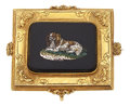 Estate Jewelry:Brooches - Pins, Victorian Hardstone Micromosaic, Gold Brooch. ...