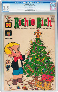 Richie Rich #8 (Harvey, 1962) CGC GD+ 2.5 Cream to off-white pages