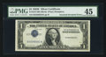 Error Notes:Inverted Third Printings, Fr. 1614 $1 1935E Silver Certificate. PMG Choice Extremely Fine45.. ...
